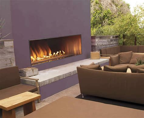 Carol Rose 60 Inch Linear Outdoor Fireplace  Fine's Gas