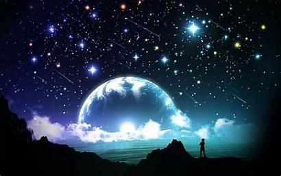 Sky Night Stars Moon Pix Winter Wallpapersafari
