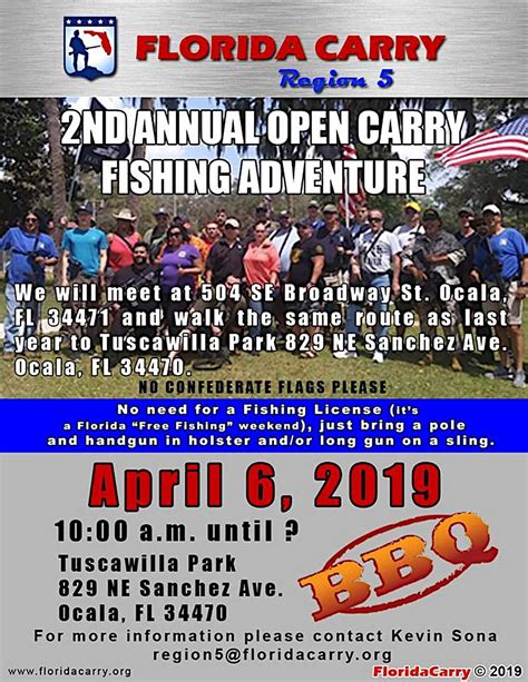 carry florida open fishing ocala saturday april host event walk concealedpatriot courtesy guns concealed