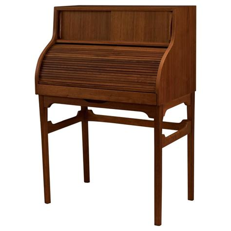 mid century secretary desk mid century brown saltman walnut secretary desk for sale