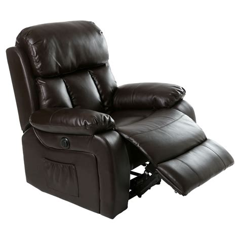 heated recliner chester electric heated leather massage recliner chair sofa gaming home armchair ebay