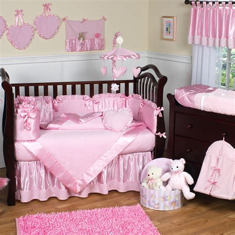 pink baby bedroom ideas which night light is best for my baby groovy babies 16700 | baby nursery awesome nursery rooms decorating ideas with modern baby girl crib bedding and pink valance also with rectangular pink rugs and white wooden padded wall panels along