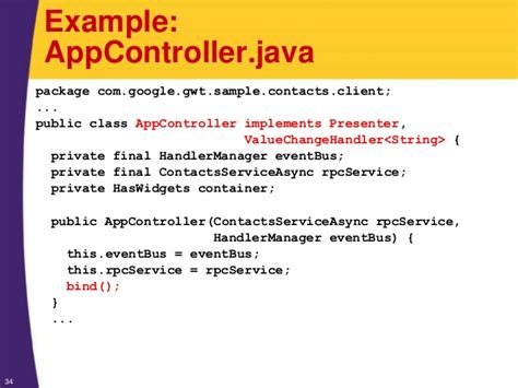 Gwt Tutorial Introduction To The Modelviewpresenter