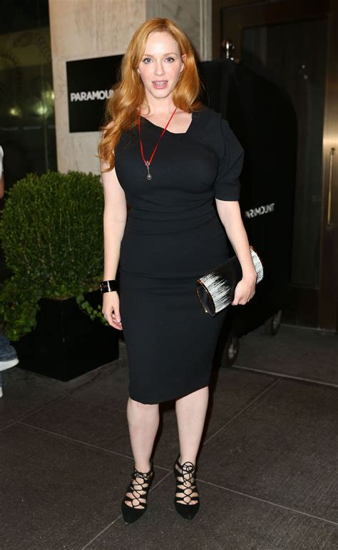 Christina Hendricks - Out to See Queen of the Night in New ...