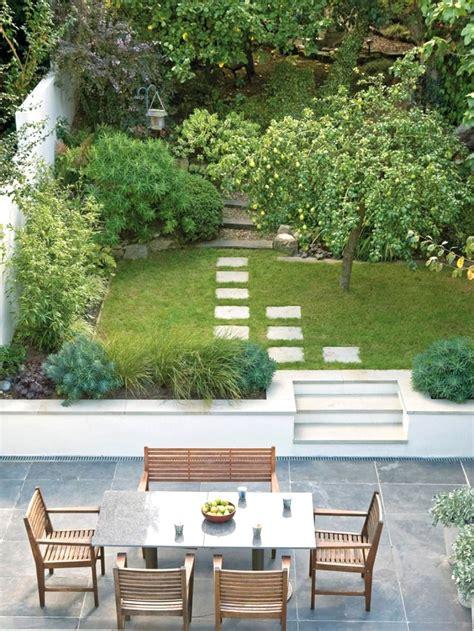 design  long narrow garden garden design ideas