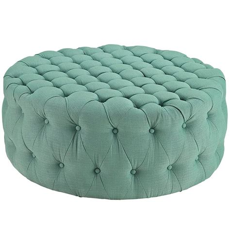 tufted fabric ottoman modern furniture brickell