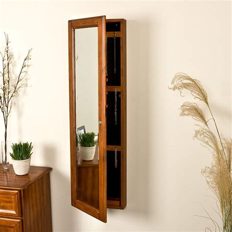 wall mounted jewelry cabinet with mirror master sei136 jpg