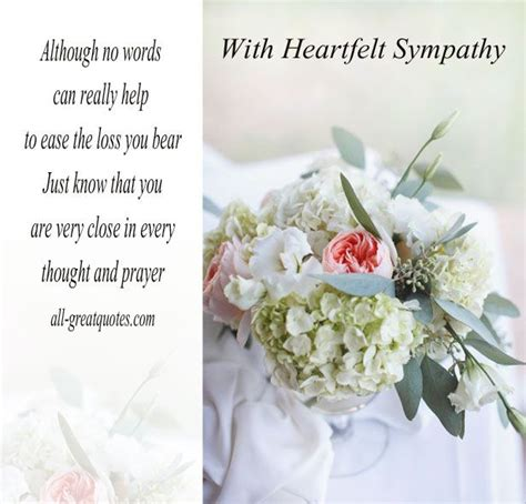 Heartfelt Sympathy Messages