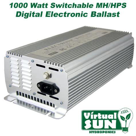 virtual sun 1000w digital hps mh electronic grow light