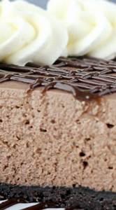 No-Bake Brownie Batter Cheesecake | Recipe | Brownie ...