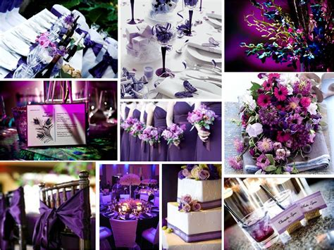 wedding ideas purple wedding theme