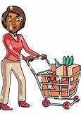 Image result for Free Picture Of Woman With Grocery Cart