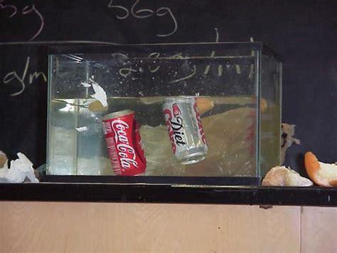 Floating Vs Sinking by Rūma Pūkeko Burnham School Floating And Sinking Coke Cans