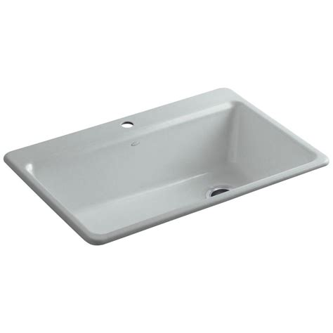 home depot kitchen sink accessories kohler riverby drop in cast iron 33 in 1 hole single