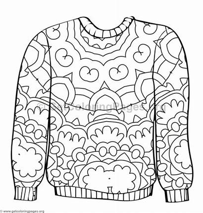 Sweater Coloring Ugly Pages Template Sheet Drawing