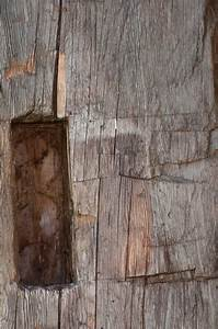 photo 13268 hand hewn timber close up mortice pocket With barnwood skins
