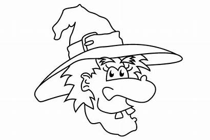 Face Printable Template Makeup Witch Coloring Pages