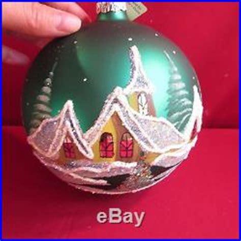 vitbis large christmas ornament glass ball hand painted christmas decor world