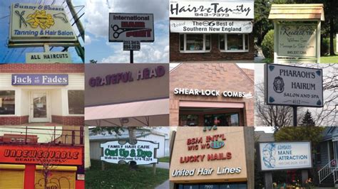 haircut salon names here s a map of the 3 000 punniest business names in america 5458