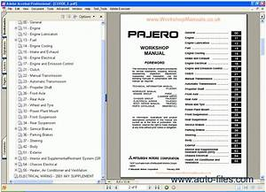 Mitsubishi Pajero Workshop Manual  Repair Manuals Download