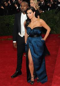 Kim Kardashian Wearing Givenchy Couch Dress – 2015 Met ...