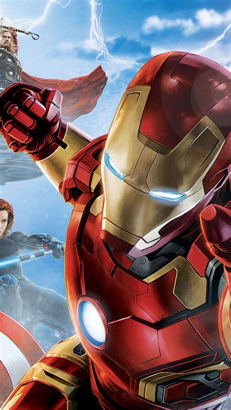 wallpaper avengers age  ultron iron man captain america hulk black widow hawkeye thor