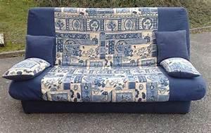 Lit D Occasion : canap lit clic clac d 39 occasion bleu beige canap s lits ~ Melissatoandfro.com Idées de Décoration