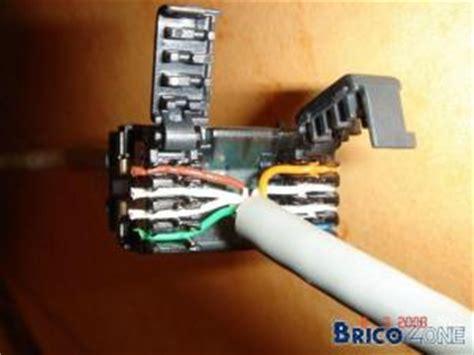 cable telephone sur prise rj cablage prise rj avec cable ft prise rj correspondance