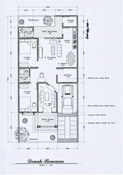 denah rumah minimalis   lantai  rumah minimalis