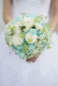 Aqua Wedding Bouquet Ideas