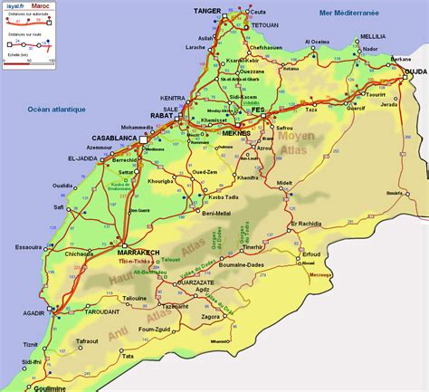 Carte Villes Maroc Pdf by Carte Du Maroc D 233 Taill 233 E 187 Vacances Arts Guides Voyages