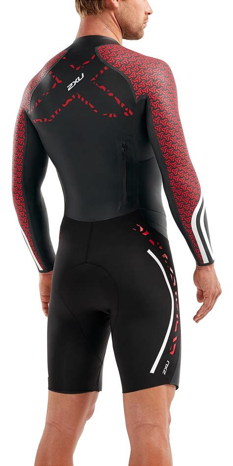 2019 2XU Mens Pro Swim-Run Pro Wetsuit Black / Flame ...
