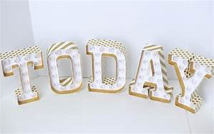 gold glitter marquee letters my sister39s suitcase With gold marquee letters