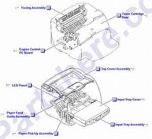 Rm1-0720-000cn Hp Top Cover Assembly - Has