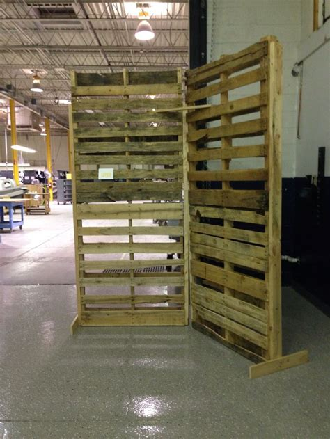 pallet wall constructed  utley brothers printing