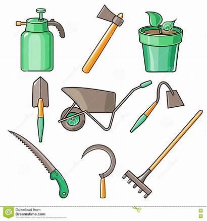 Tools Garden Gardening Items Illustration Flat Tool