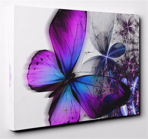 Purple Blue Abstract Floral Butterfly Canvas Wall Art. Fridge Stickers. Retirement Banner. Poonam Logo. 17th March Signs. Takeaway Signs. Mural Painting Jobs. Above Master Bed Signs. 15th Century Lettering