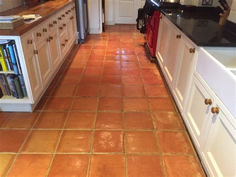 terracotta tile floor with efflorescence robinson