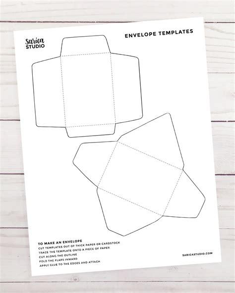 mini envelope templates sarica studio