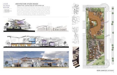 2017 Architecture Portfolio  Sample Of Work By Leah