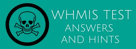 whmis test answers  hints questions acute