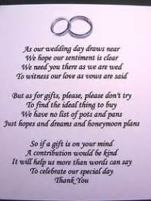 wedding fund registry 1000 ideas about wedding poems on wishing