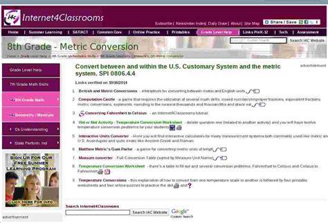 metric conversion geometrymeasure eighth  grade math