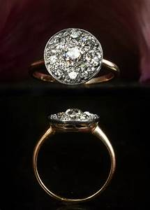 unique engagement ring vintage disc shaped cluster With unique vintage wedding rings