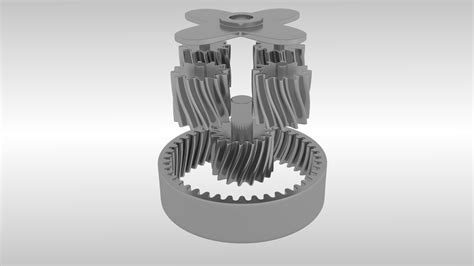 animated planetary gears  model animated fbx blend