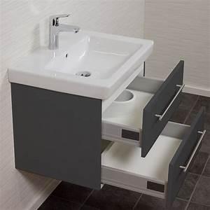 Waschtisch Mit Becken : bad waschtisch mit villeroy boch becken subway 2 0 60 cm breit grau bad waschtische ~ Indierocktalk.com Haus und Dekorationen