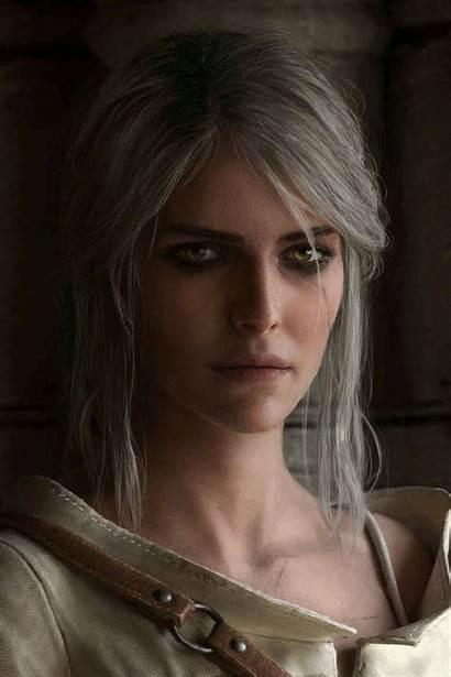 Ciri Portrait Witcher Mods Witcher3 Status