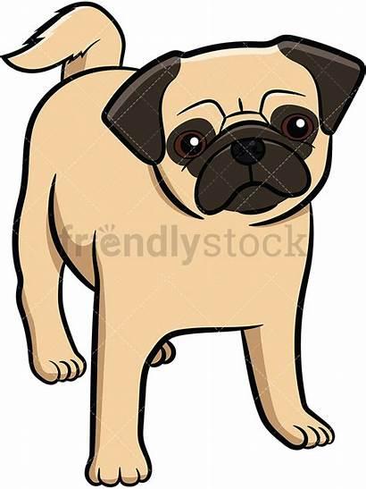 Pug Puppy Cartoon Dog Clipart Vector Apricot