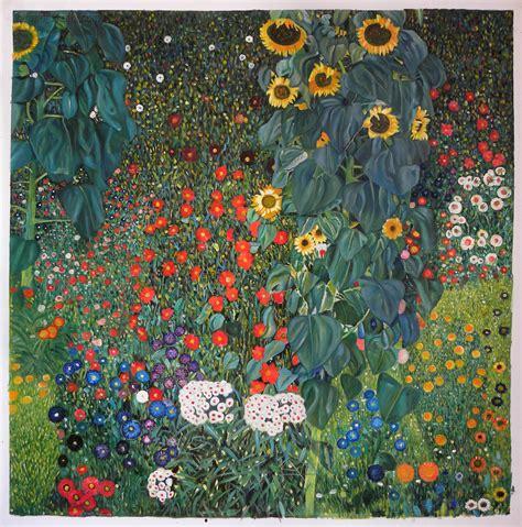 Farm Garden with Sunflowers - Gustav Klimt Paintings