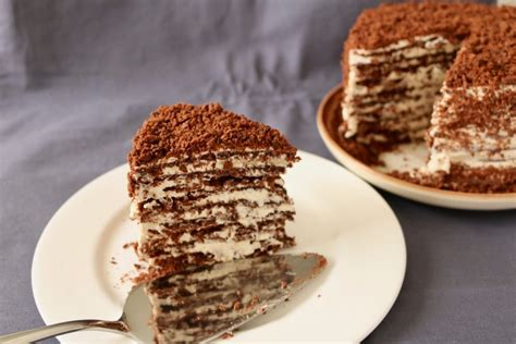 """✓ free for commercial use ✓ high quality images. Chocolate """"Napoleon"""" cake - a play on Russian classic - Lucy and Food"""
